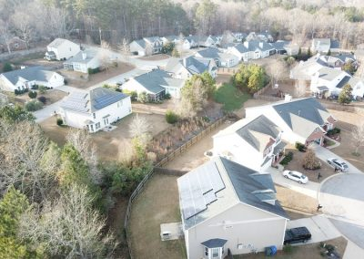 AERIAL VIEW OF RESIDENTIAL INSTALL