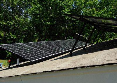 SOLAR PANELS AT ANGLE
