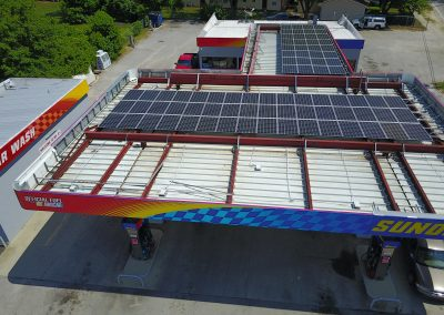 COMMERCIAL GAS STATION SOLAR INSTALL